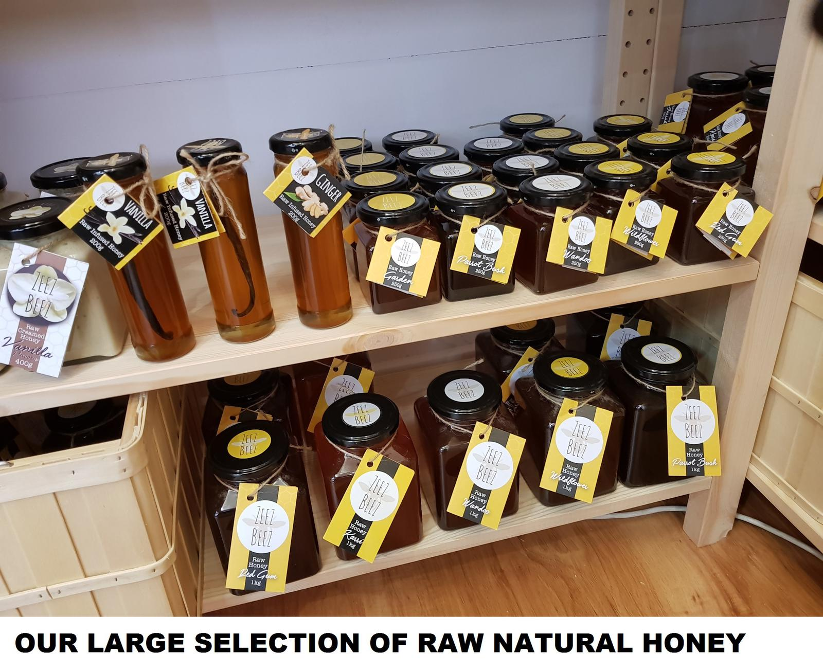OUR NATURAL RAW HONEY SELECTION