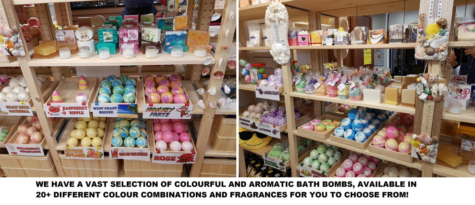 OUR LARGE BATH BOMB SELECTION