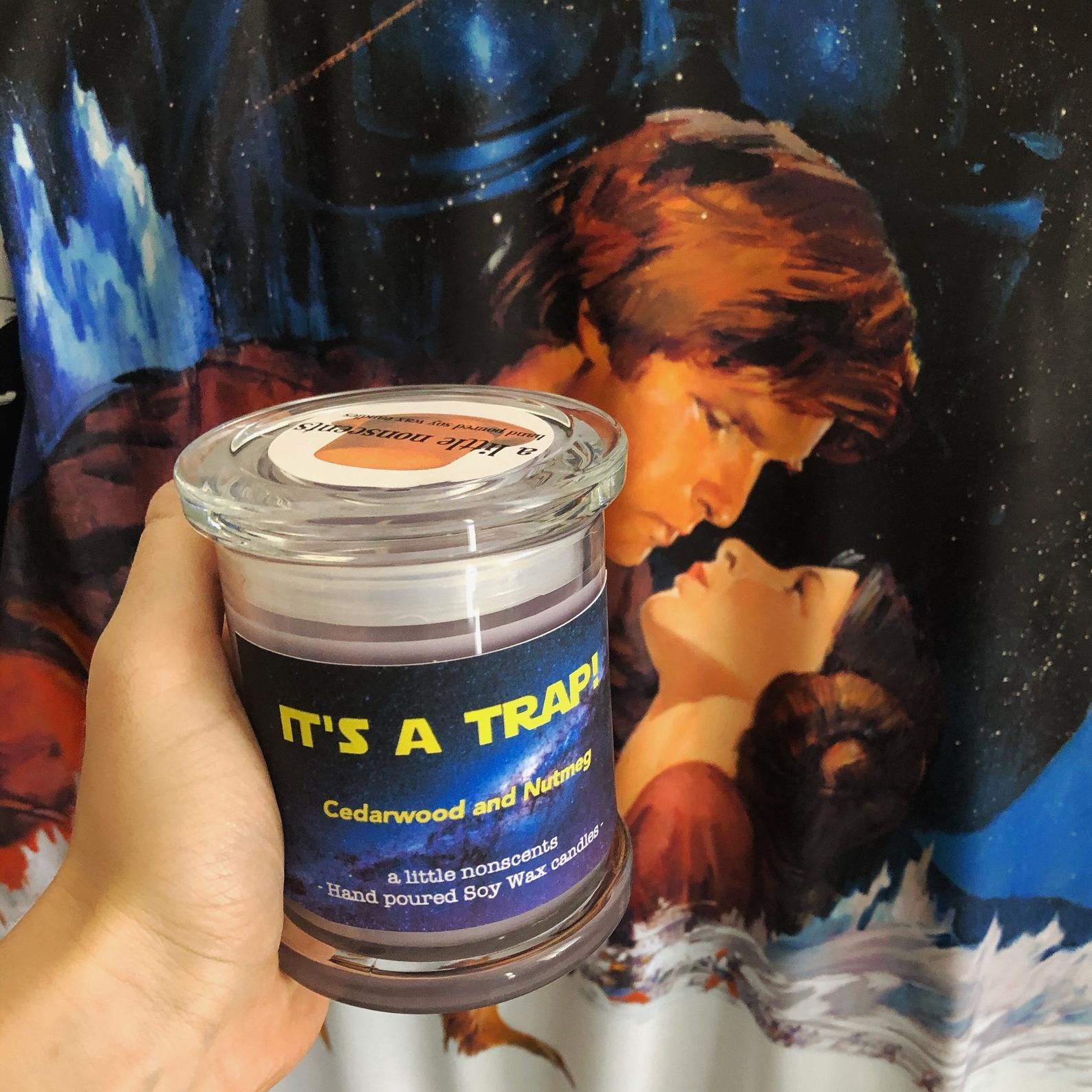 It's a trap! Star Wars inspired candle
