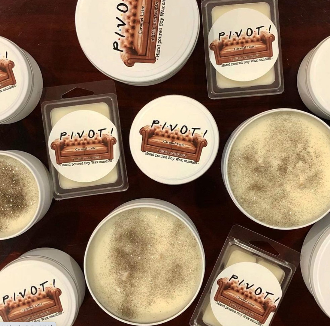 PIVOT! Friends Inspired Caramel Latte Candle