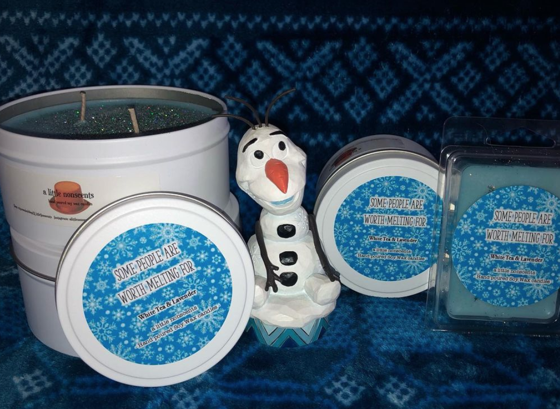 Some people are worth melting for. Frozen inspired White Tea and Lavender