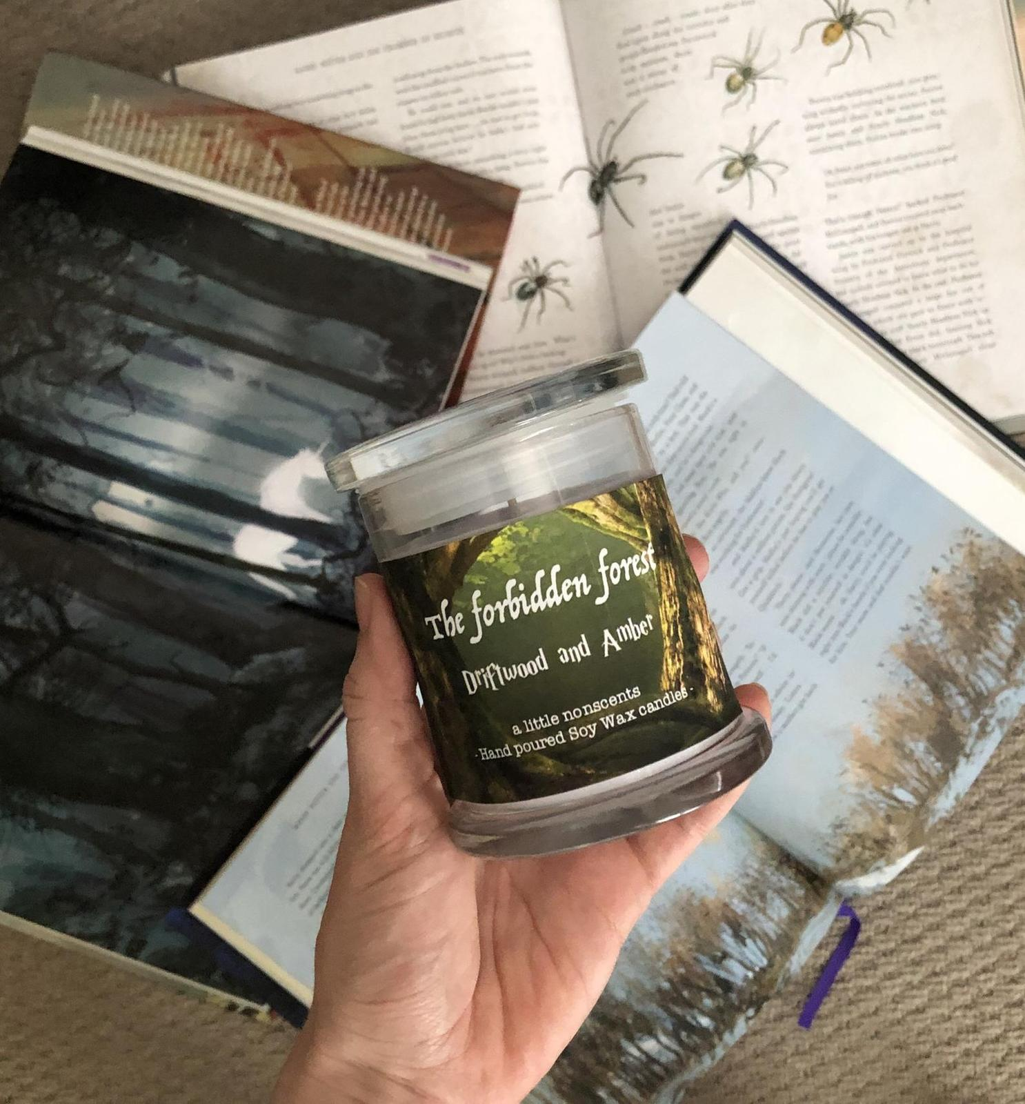 The forbidden forest. Harry Potter inspired candle