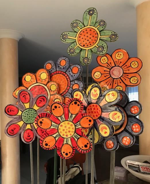 Ceramic Flowers - Instant Garden!