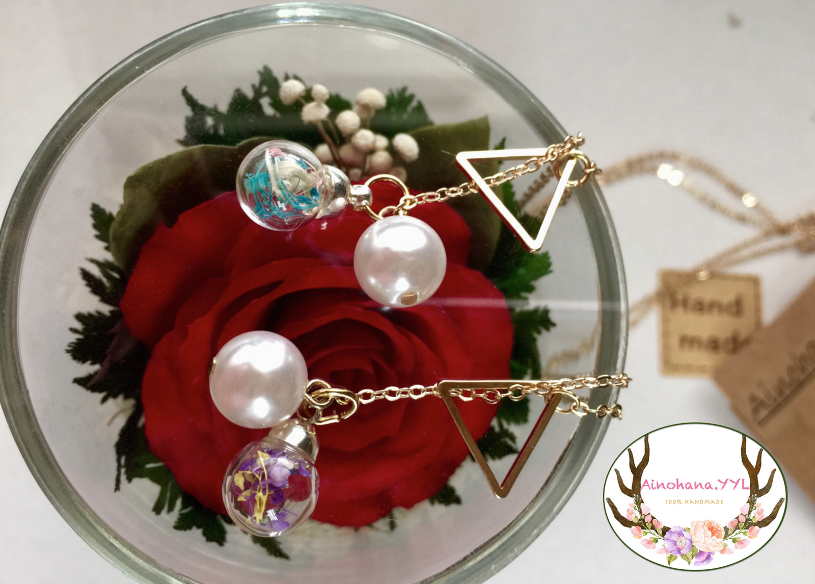 REAL FLOWER NECKLACE AND ACCESSORIES