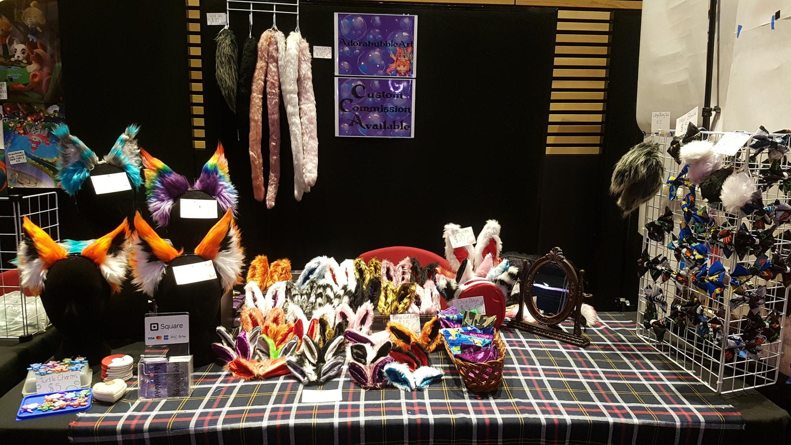 Stall set up for AVCon 2019