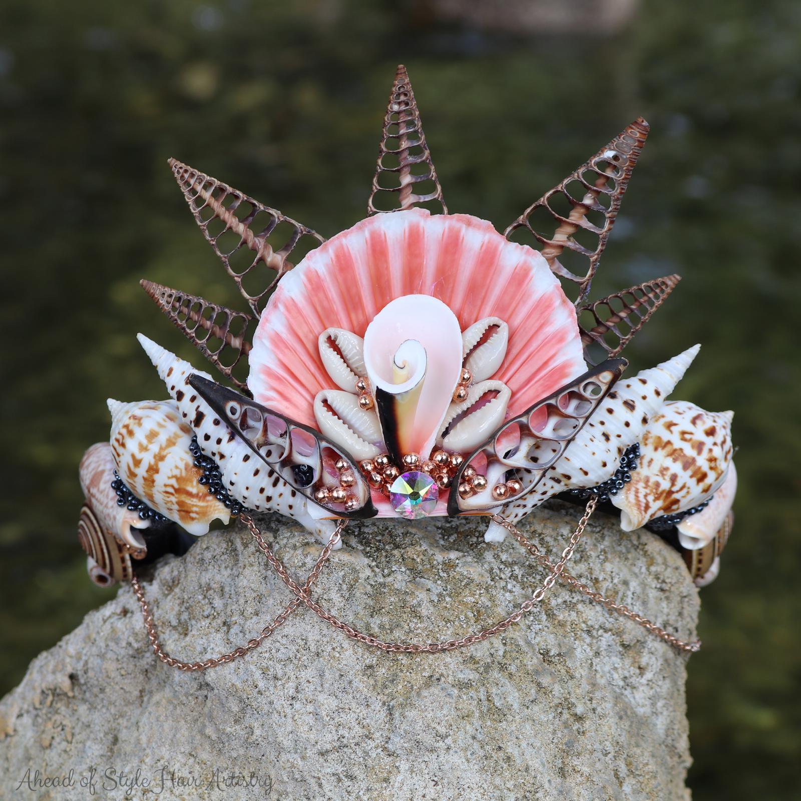 Rose Gold Mermaid Crown