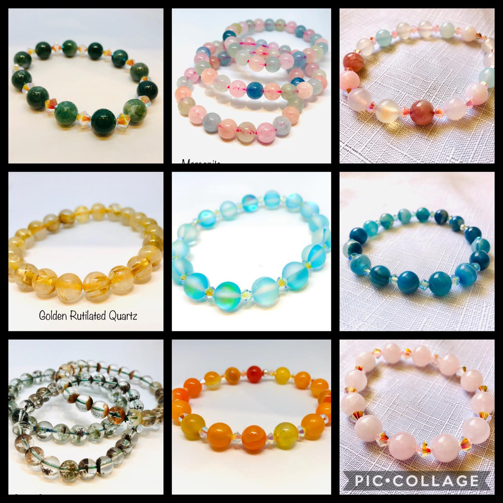 collage gemstone bracelets