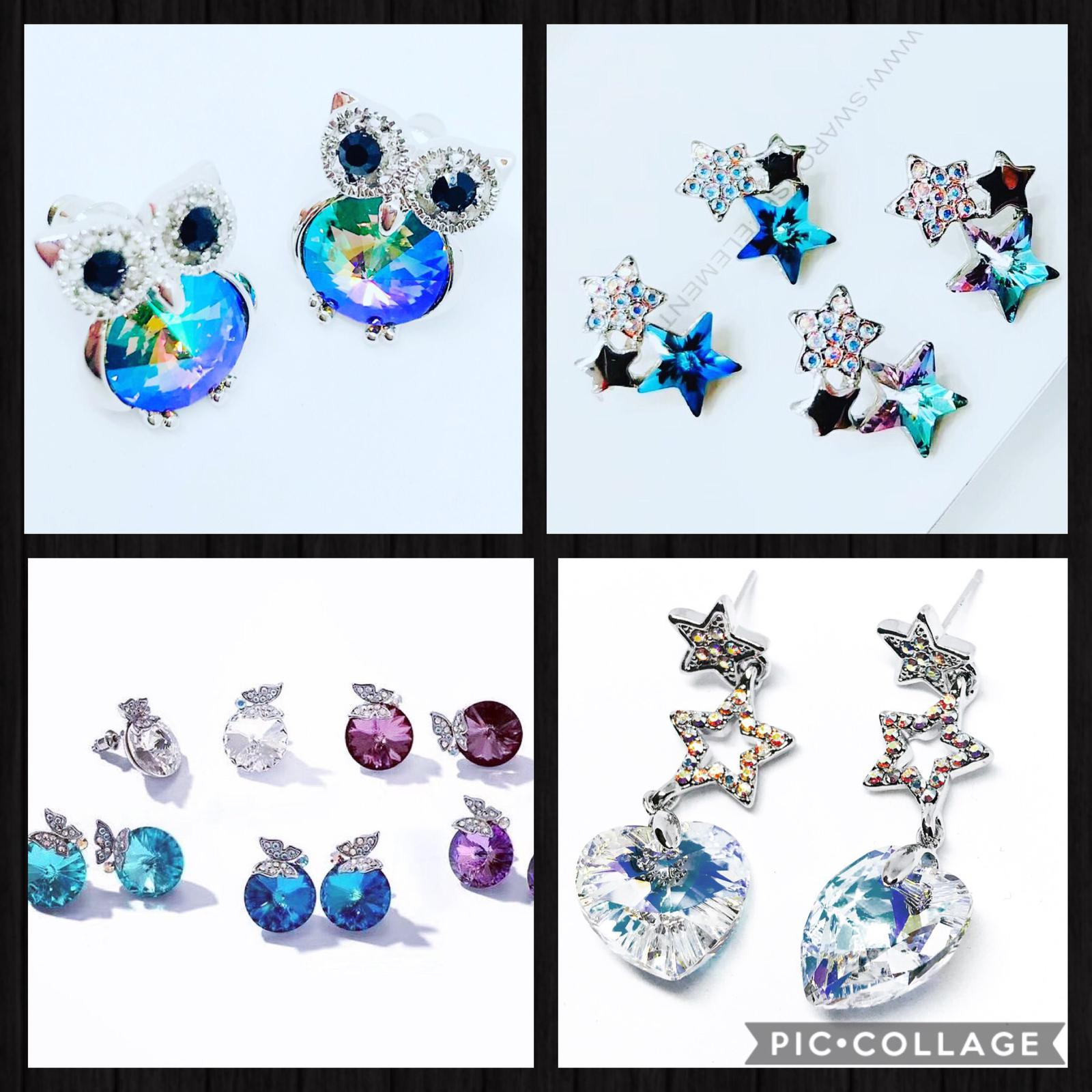 Collage Swarovski earrings