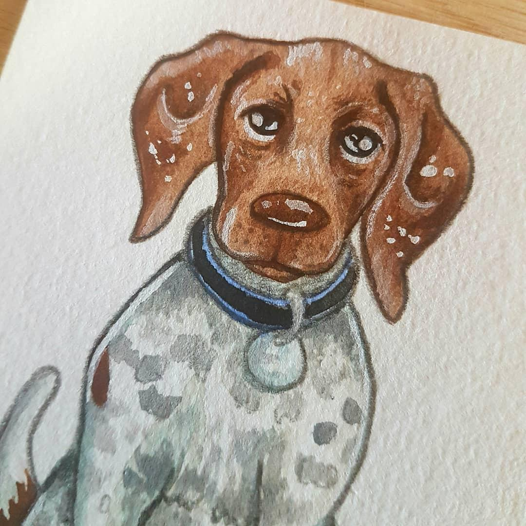 Mini watercolour - dog