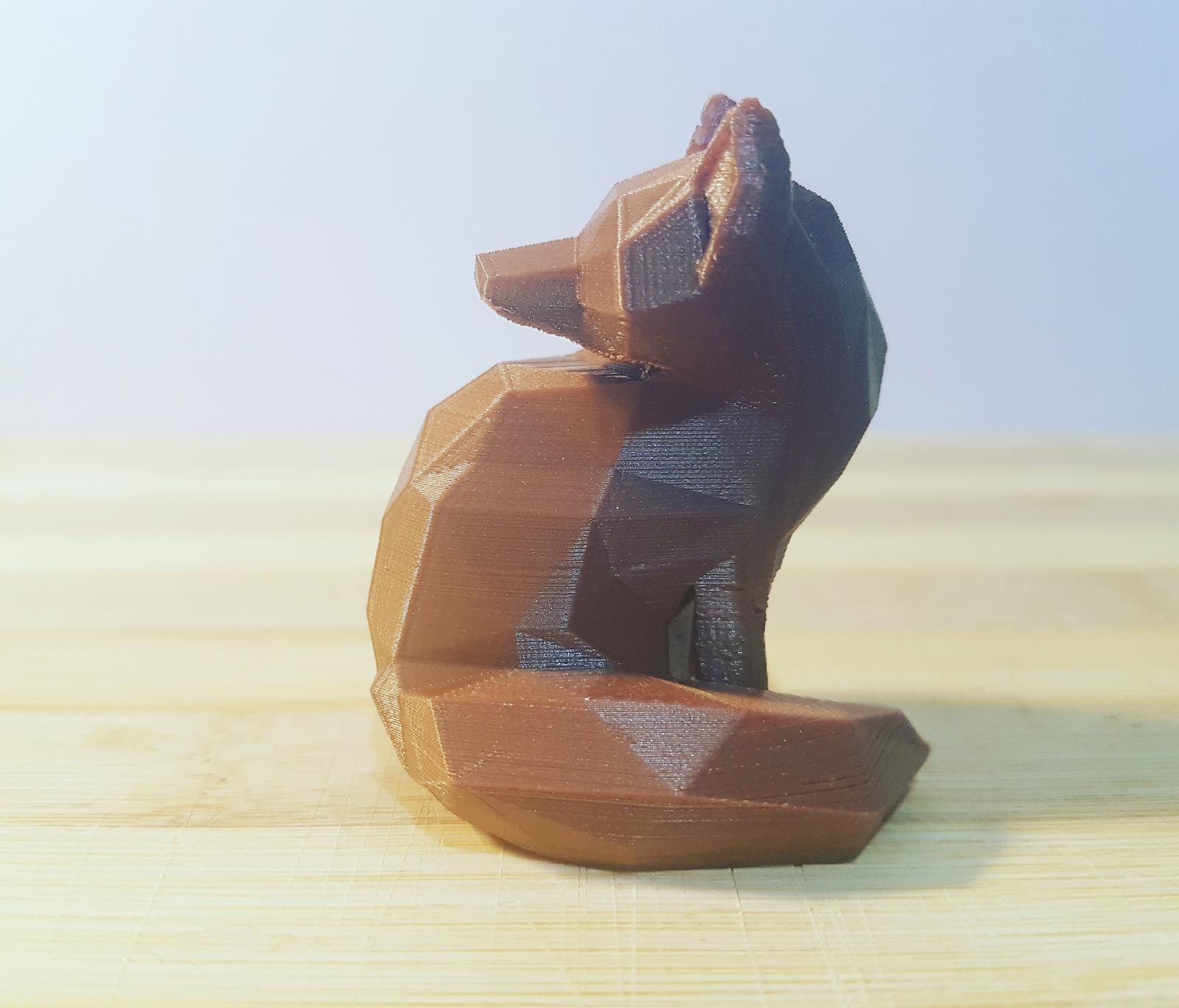 3d ornamental figurine - fox