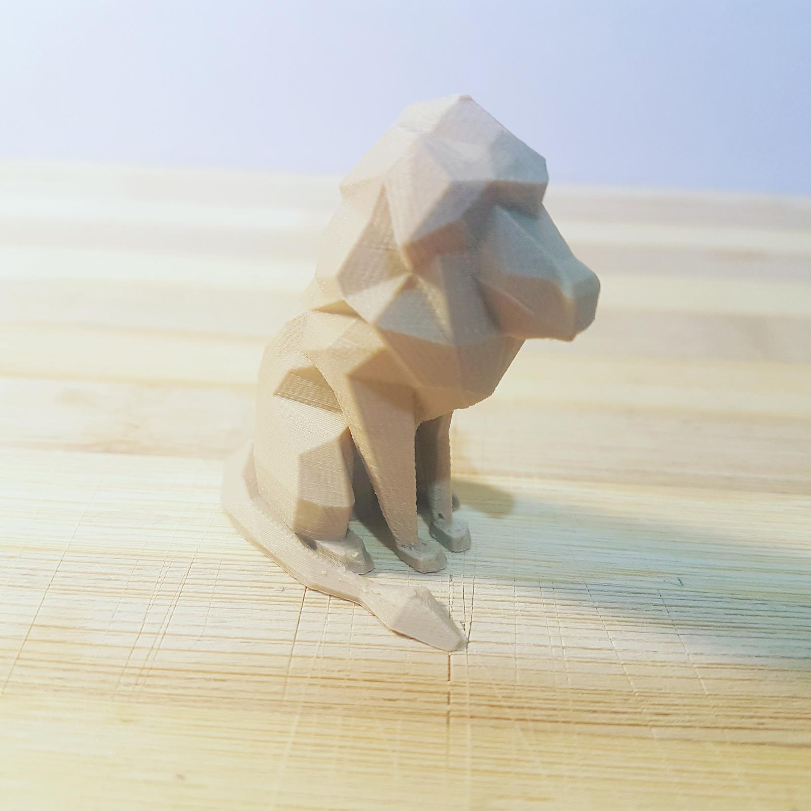 3d ornamental figurine - lion