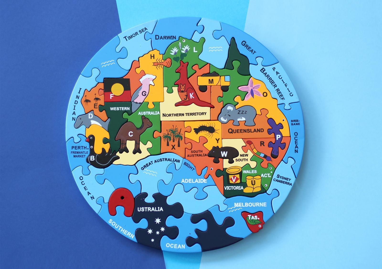 Round Oz Map