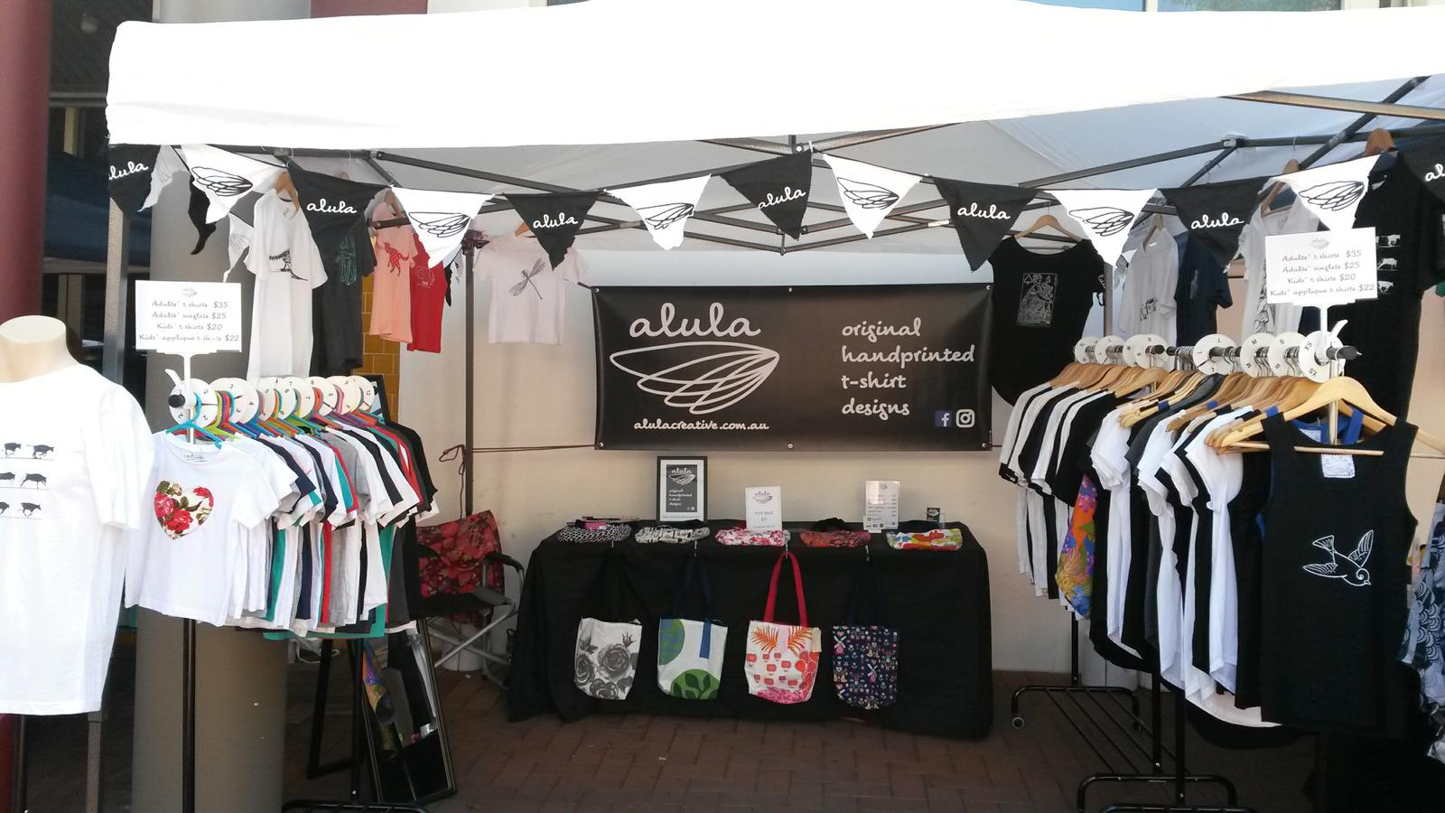 Alula Creative stall set up