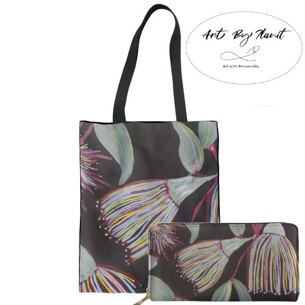 Art is printed on bags and wallets