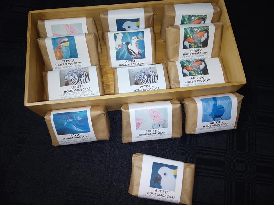 4) Home made artistic soap