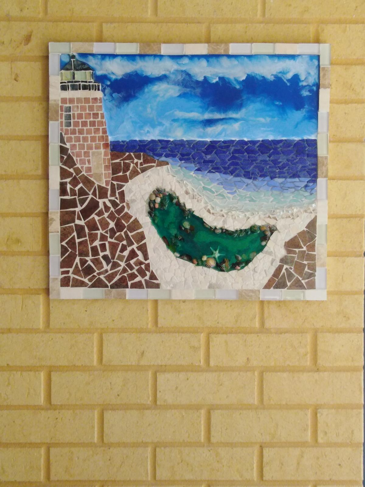 Lighthouse Art combination Of Mosaic and Resin