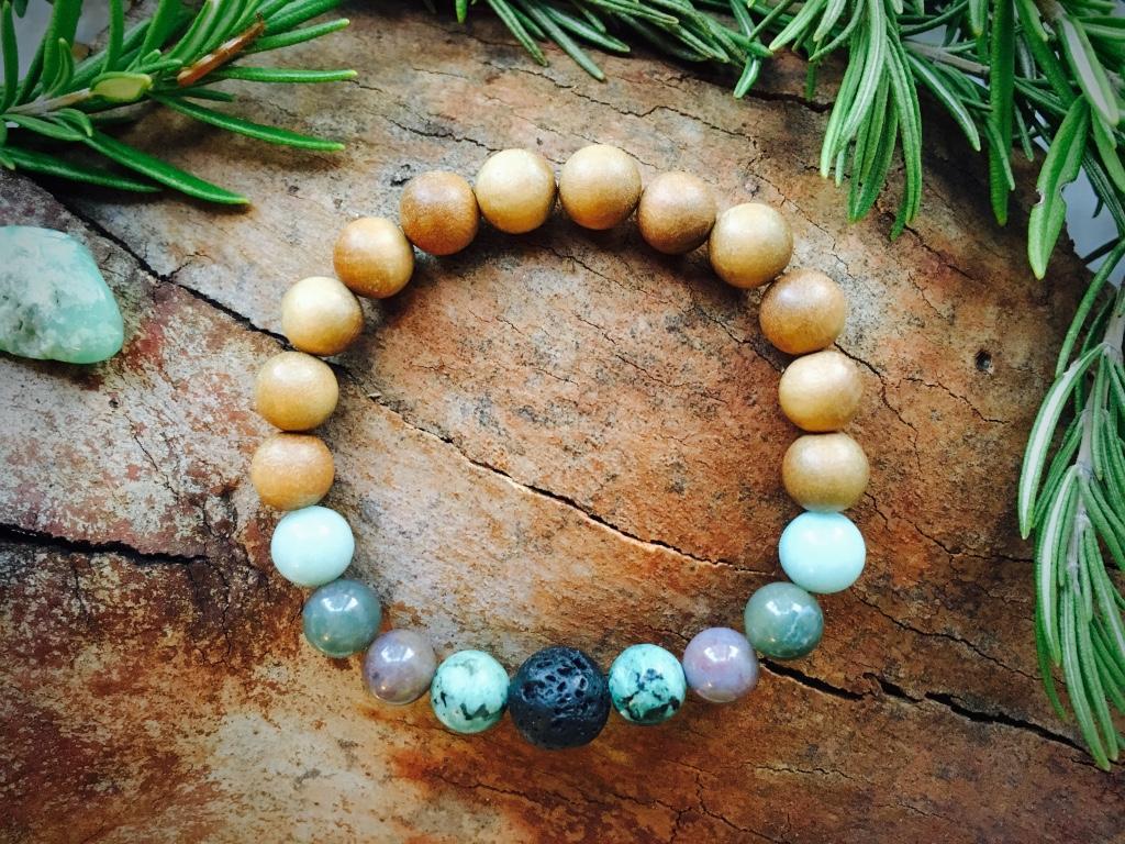 Crystal Essential Oil Bracelet