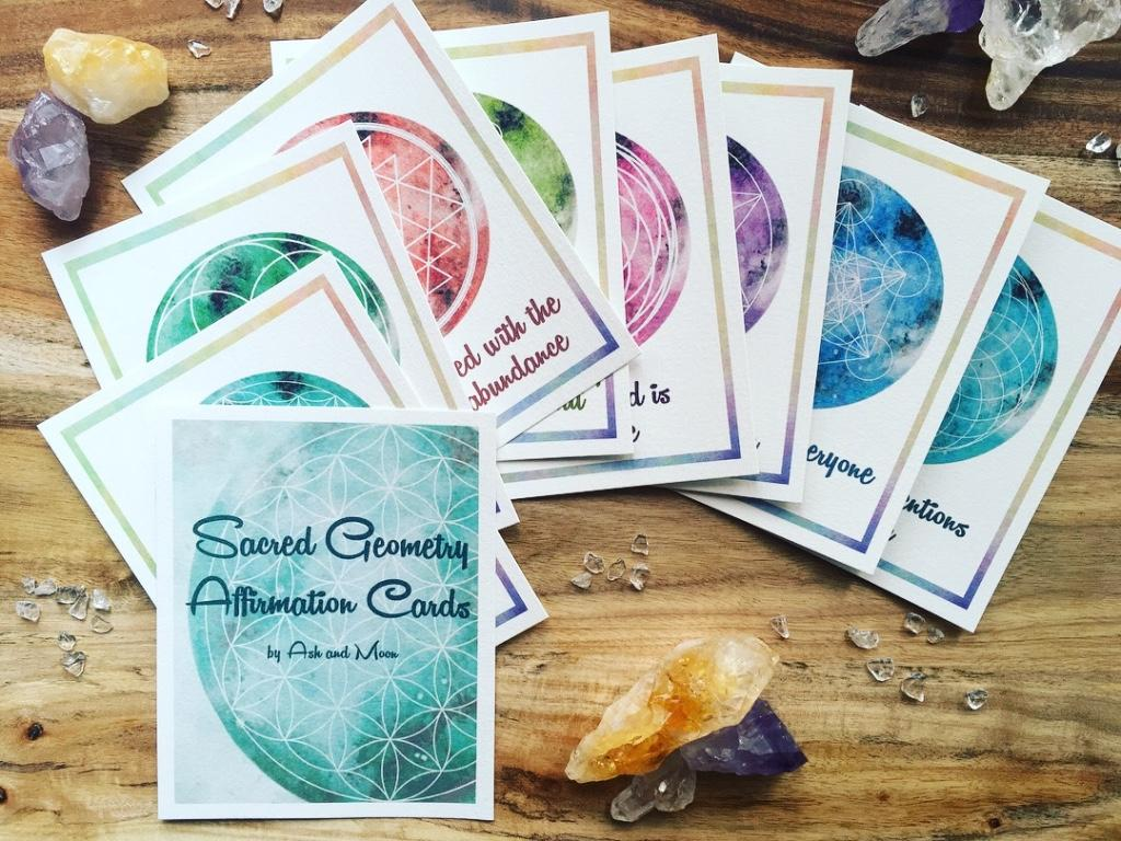 Affirmation Cards - Sacred Geometry