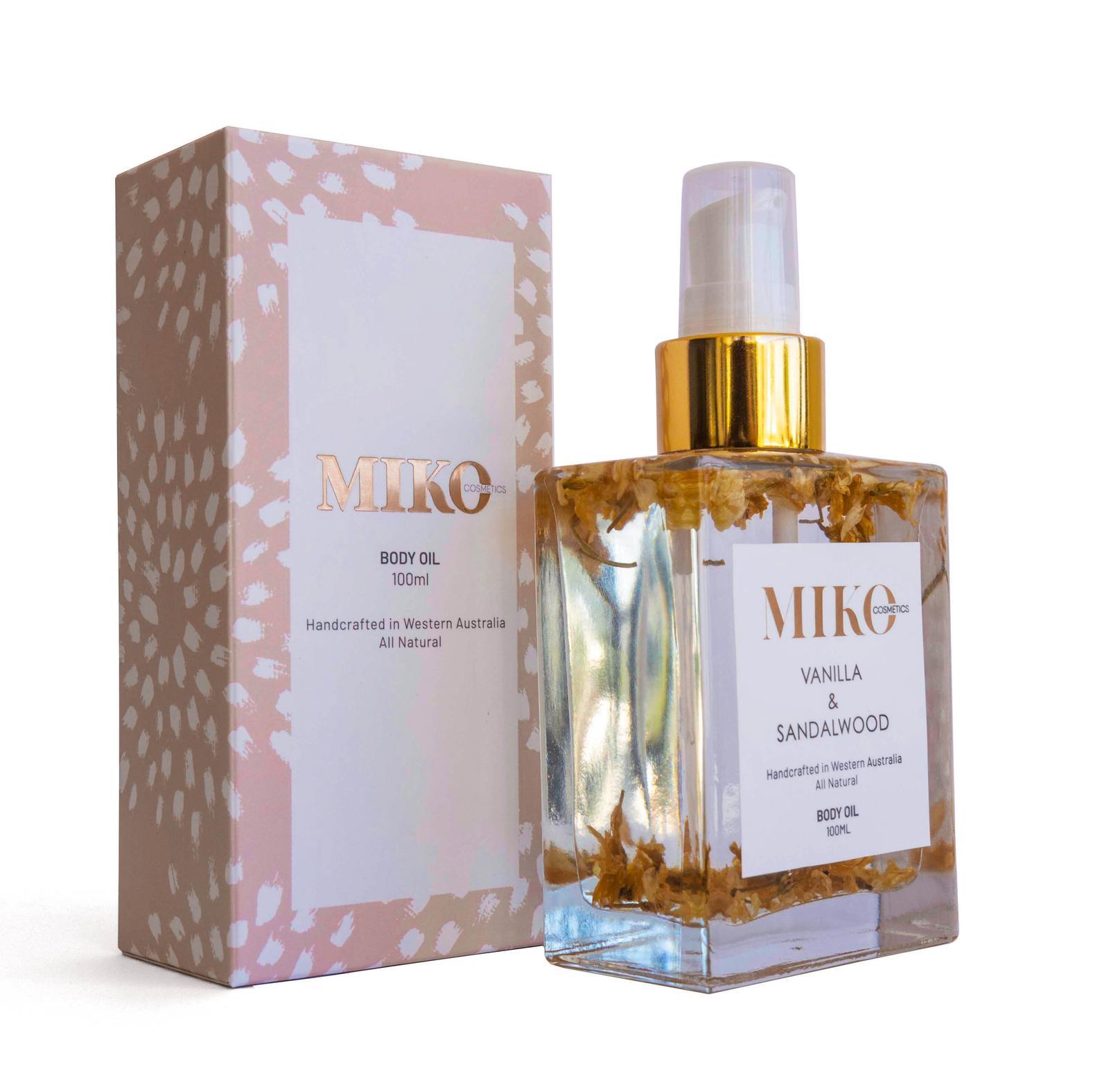 Sandalwood and Vanilla body oil