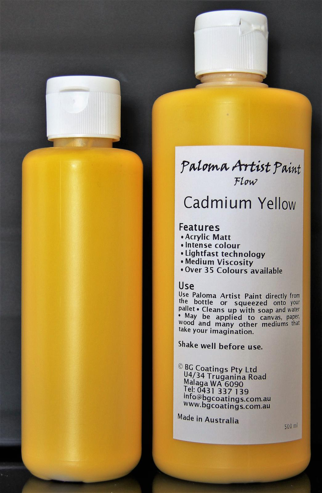 Paloma Artist Paint-Cadmium Yellow