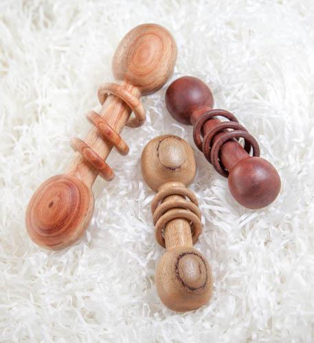 Baby Rattles with captive rings