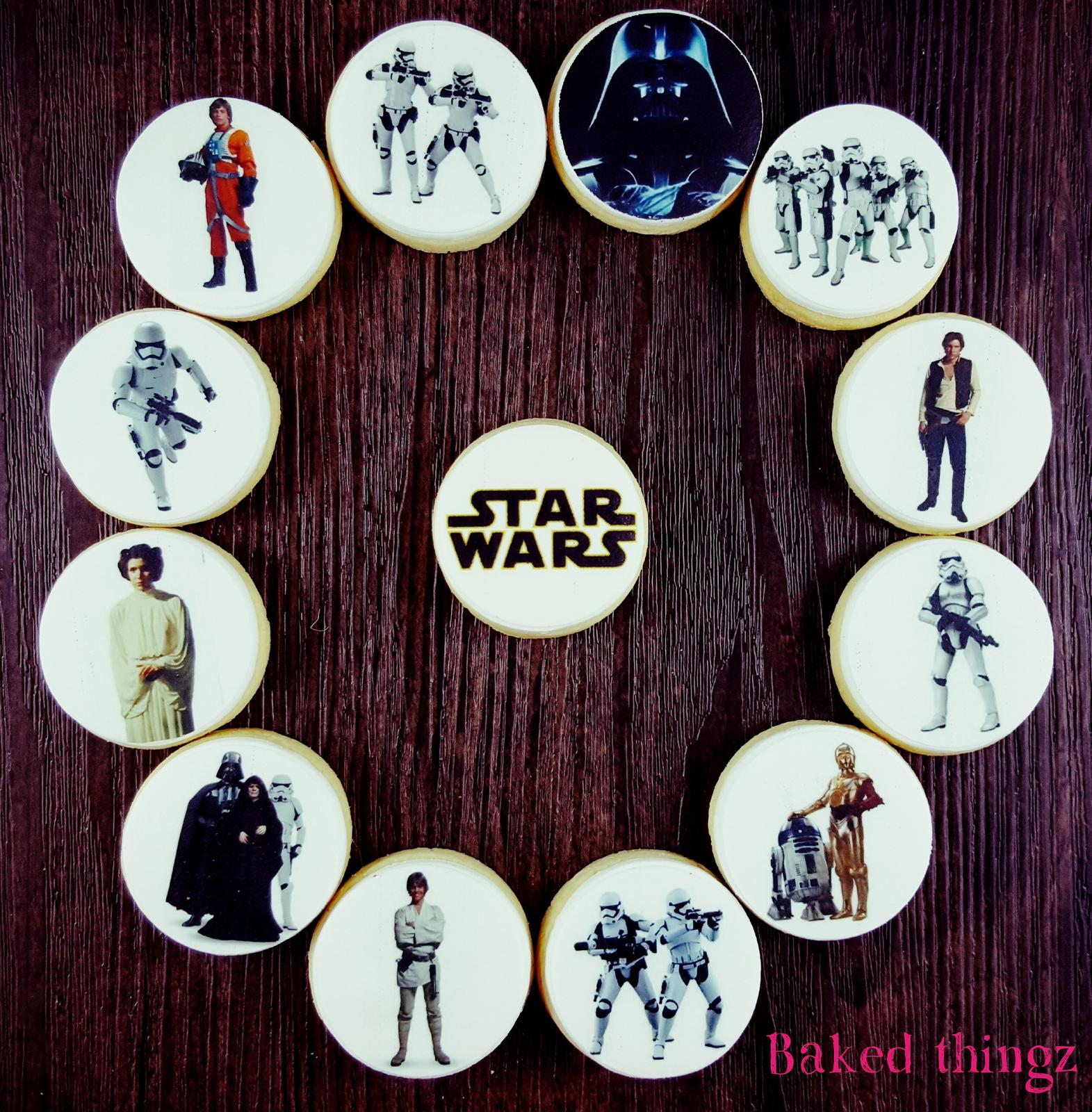 Star Wars cookie cupcake toppers