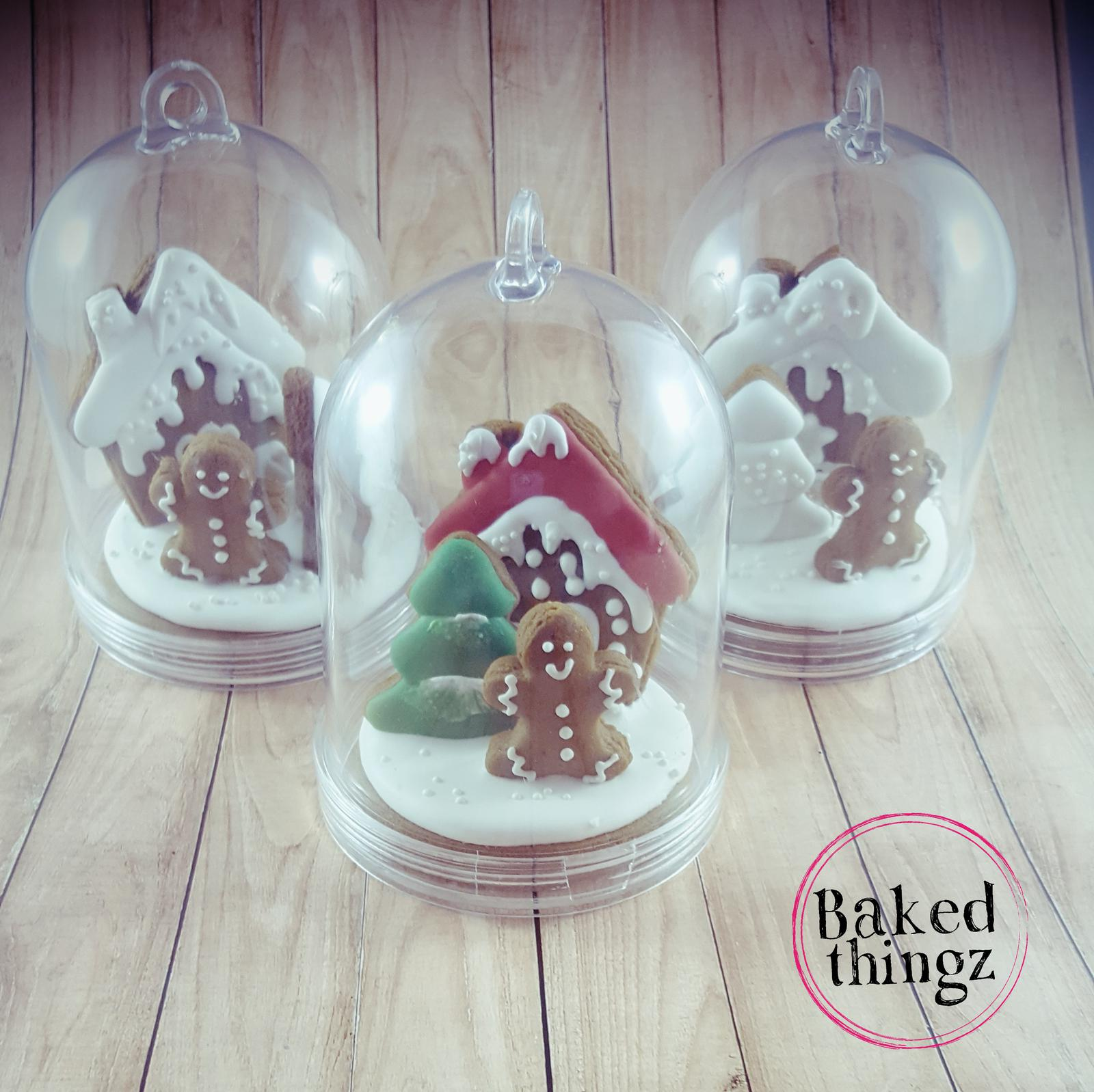 Christmas Gingerbread dome cookies