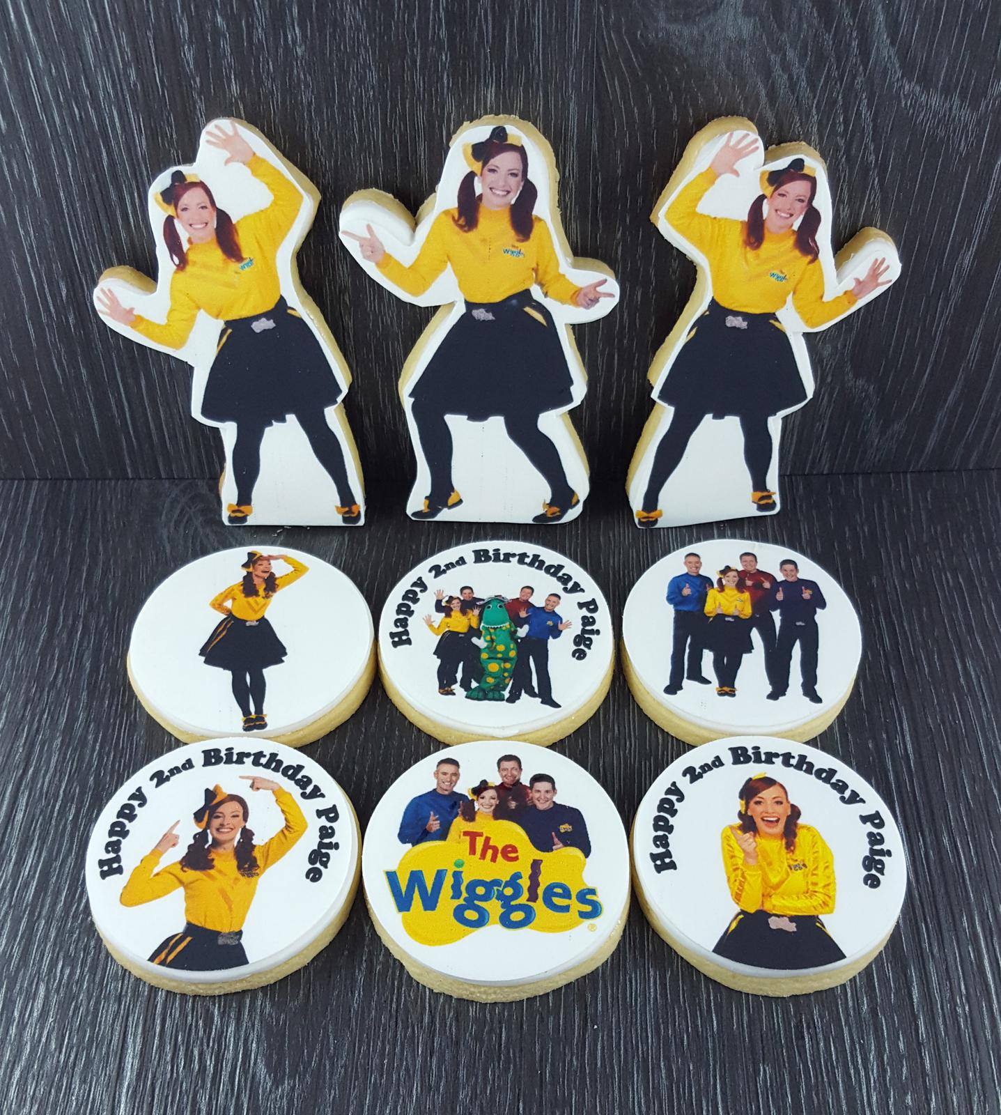 Wiggles Emma birthday cookies