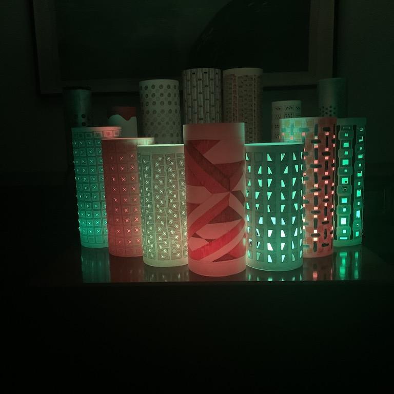 Barrel Lamps in night mode