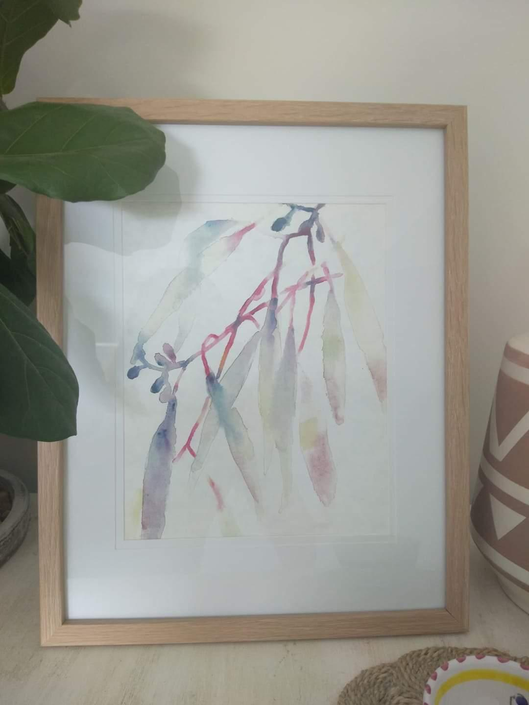 Aesthetic Australian art framed watercolour