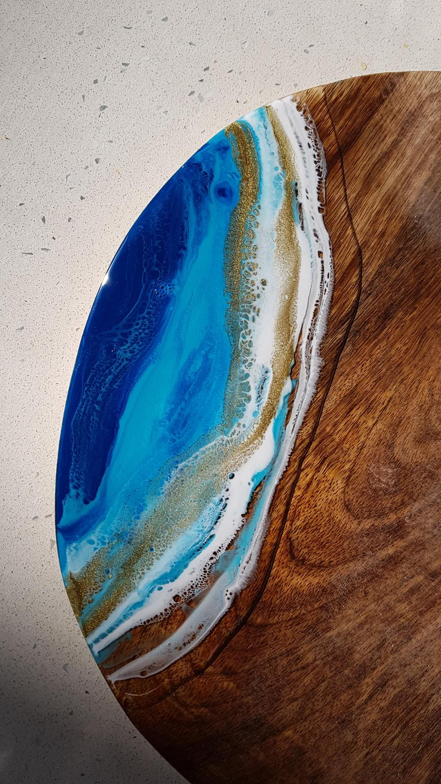 Intricately detailed resin serving boards