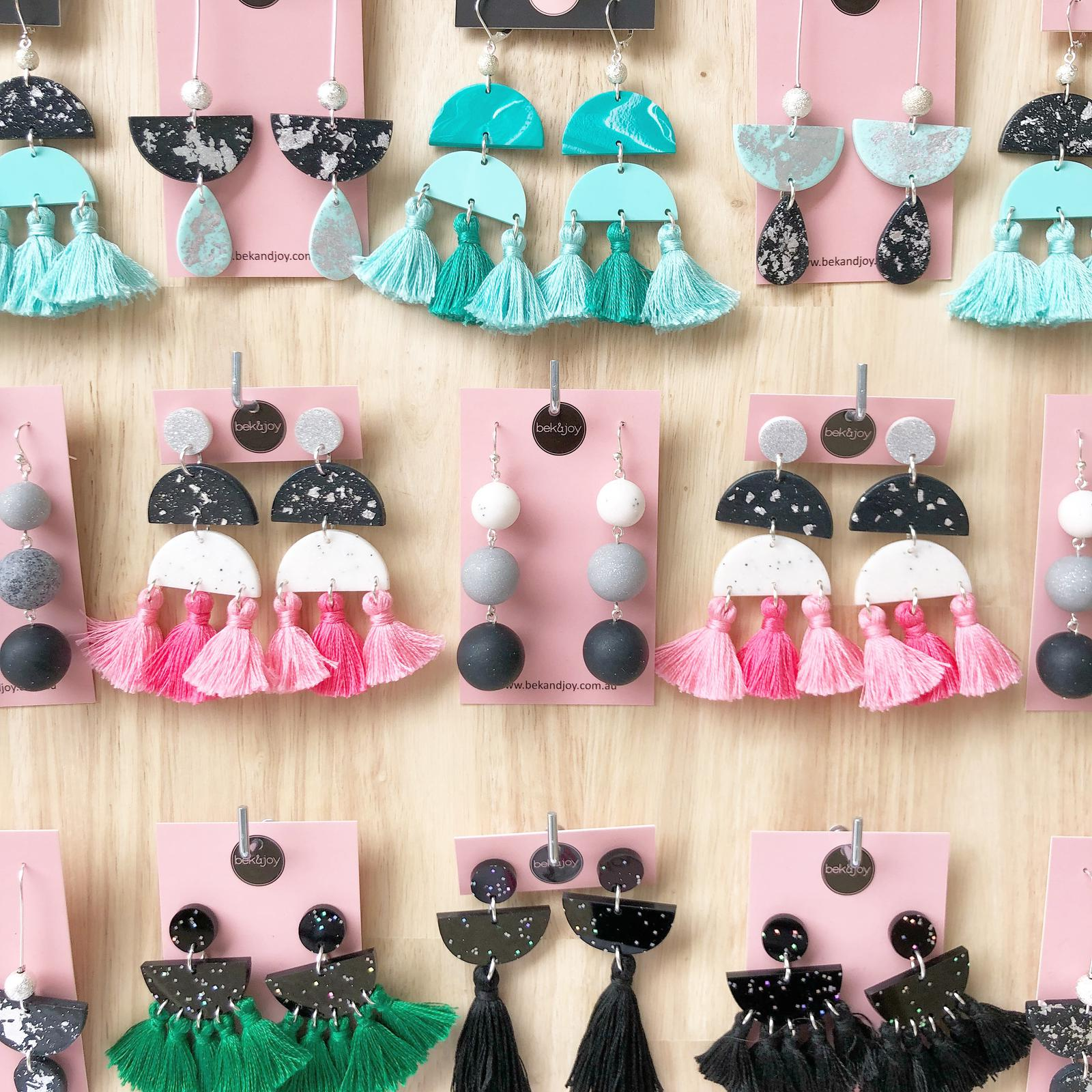 Bek & Joy Earrings Multi