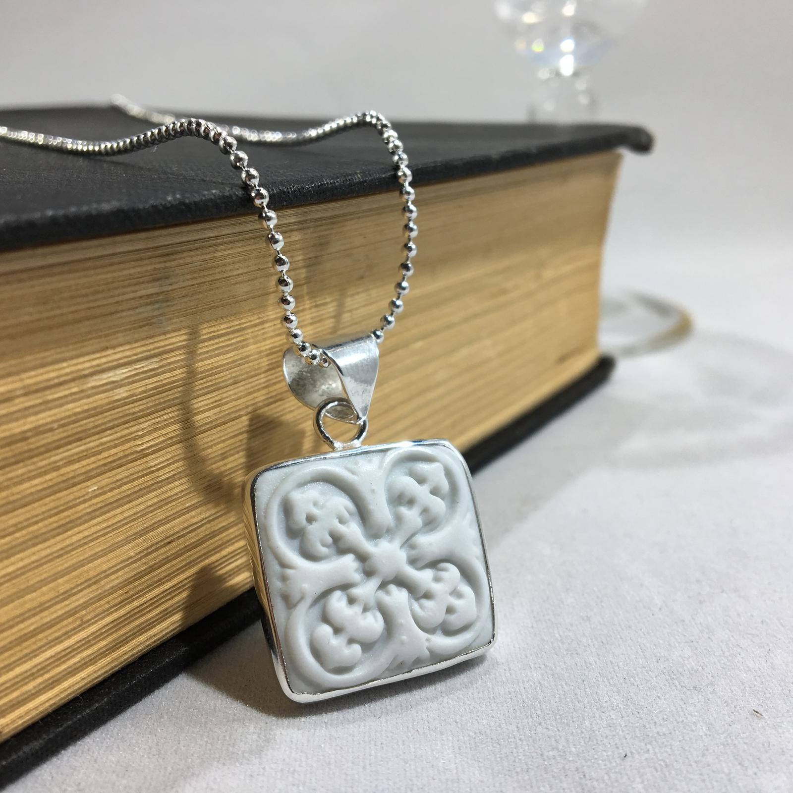 Cameo line, porcelain and silver jewellery