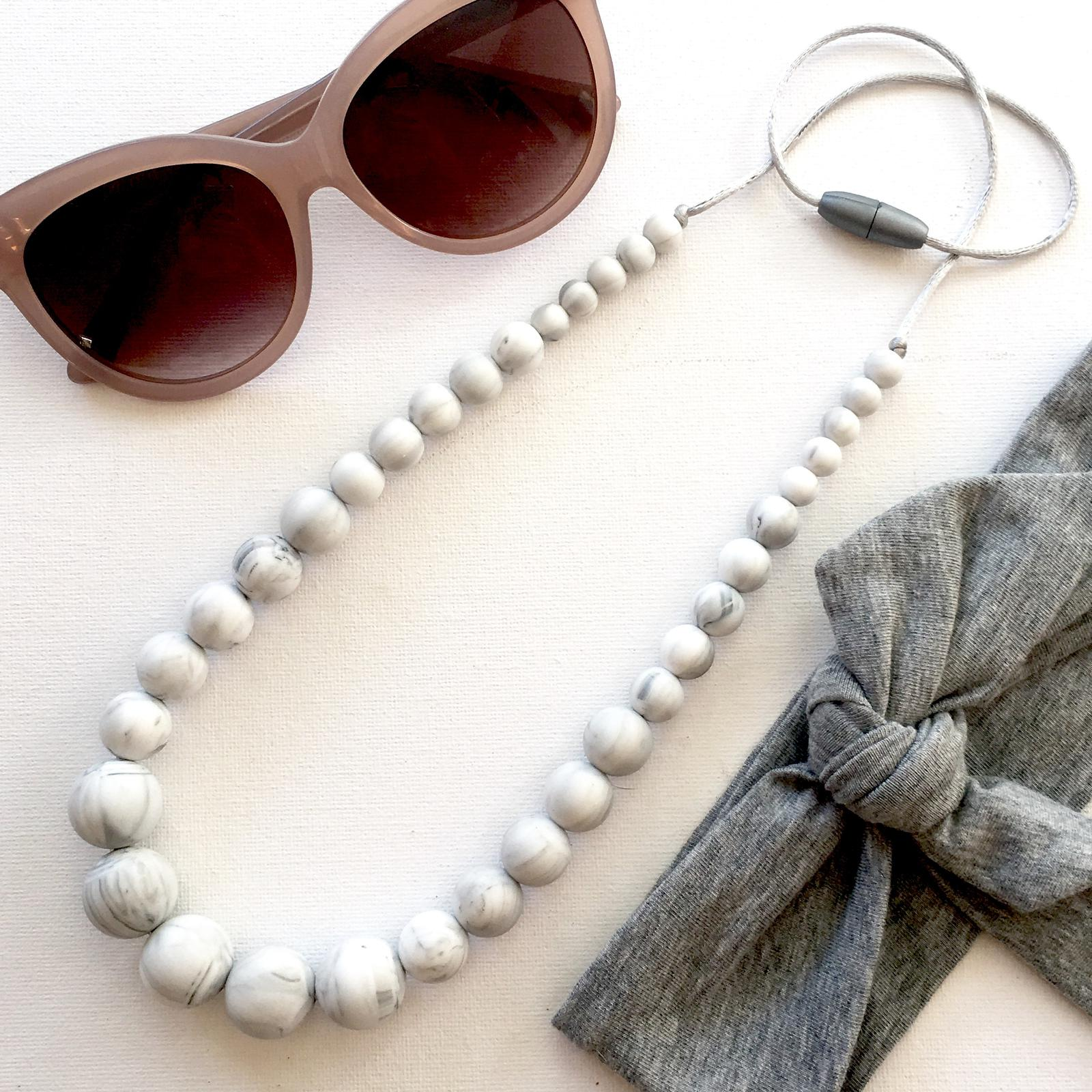 Marble Silicone Necklace