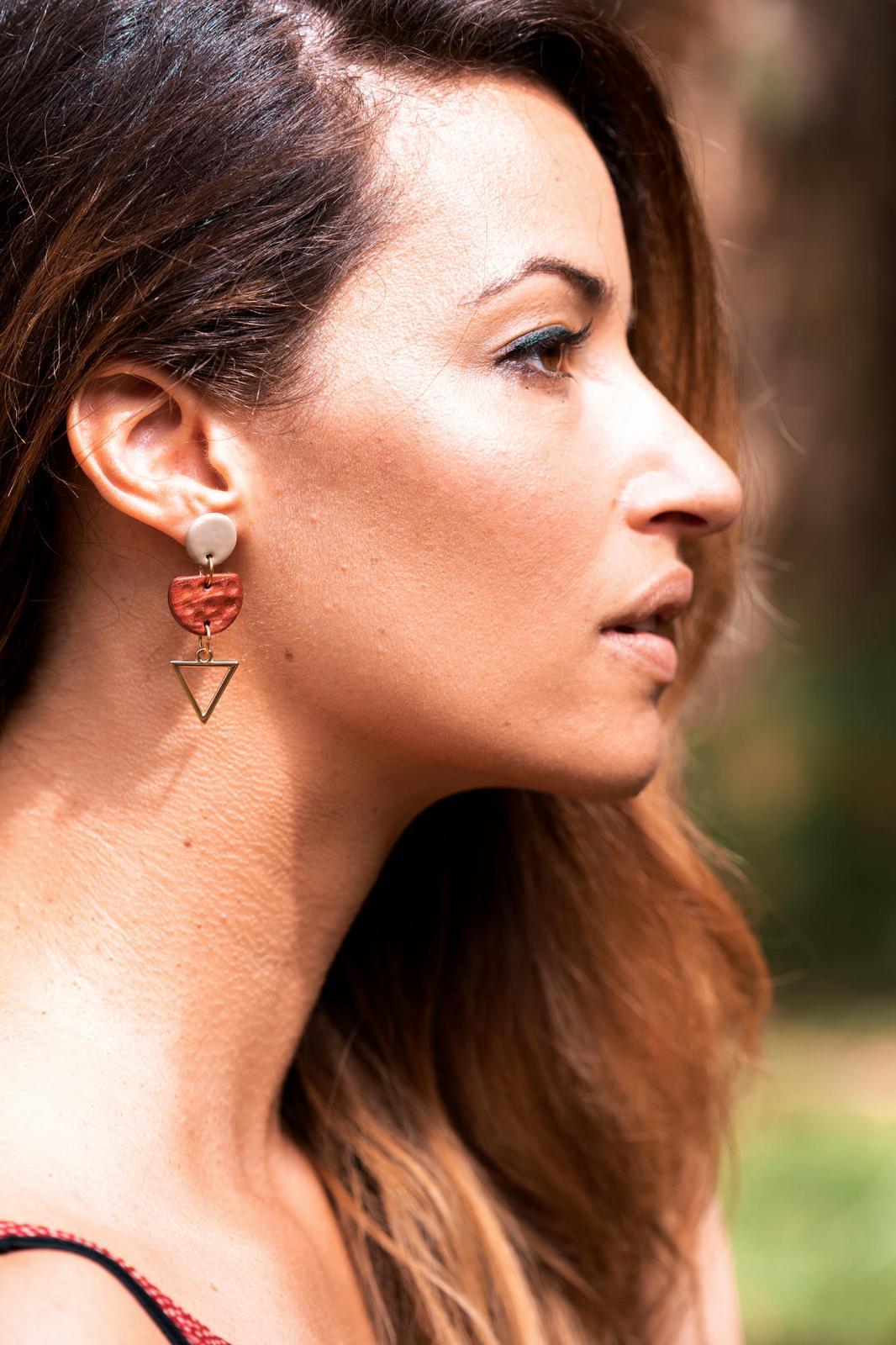Terra Earrings Bronze