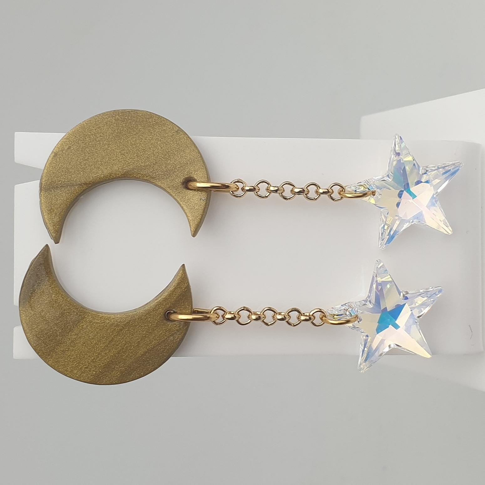 Starry Night Statement Gem Earrings
