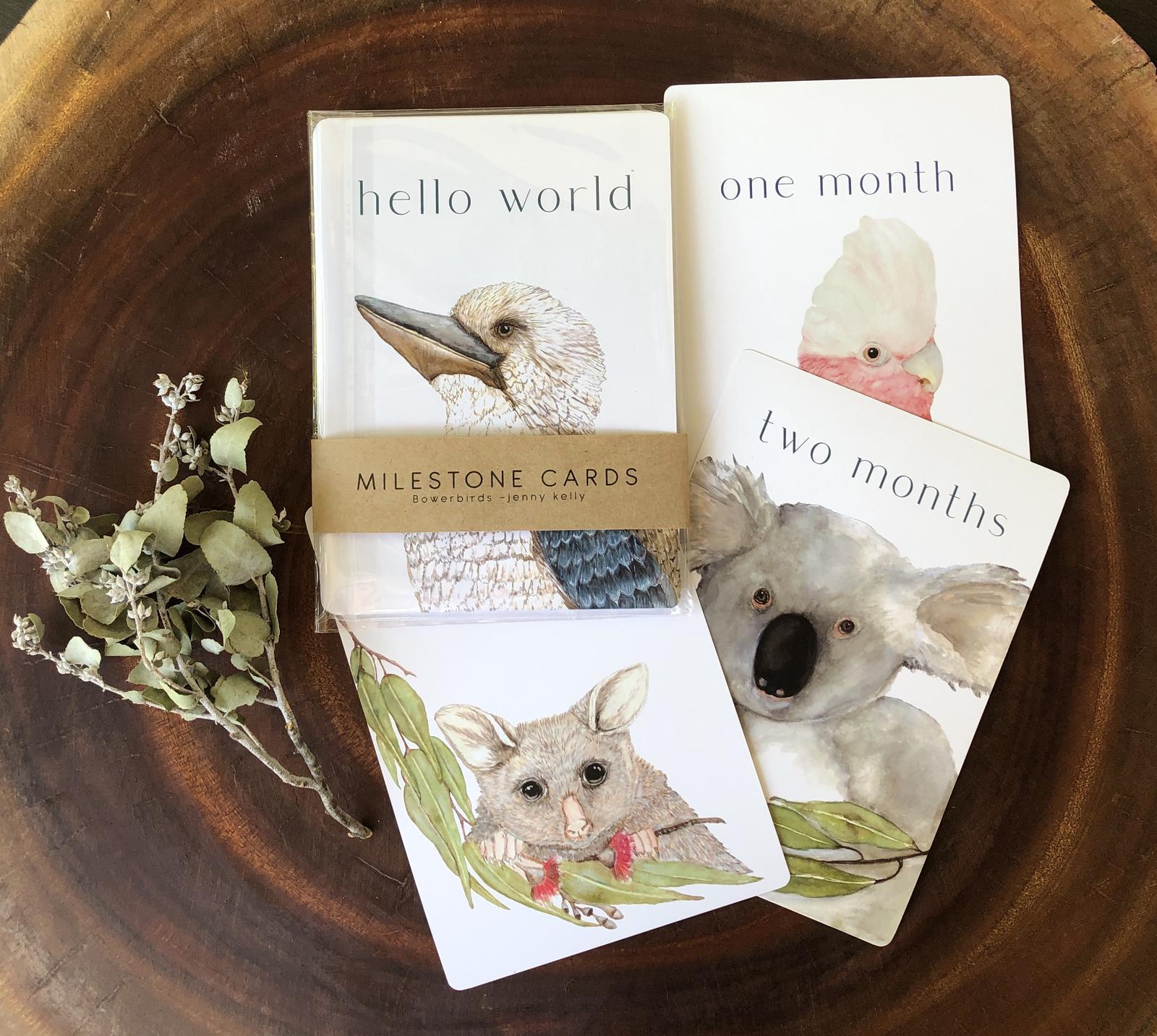 Milestone Cards by Bowerbirds