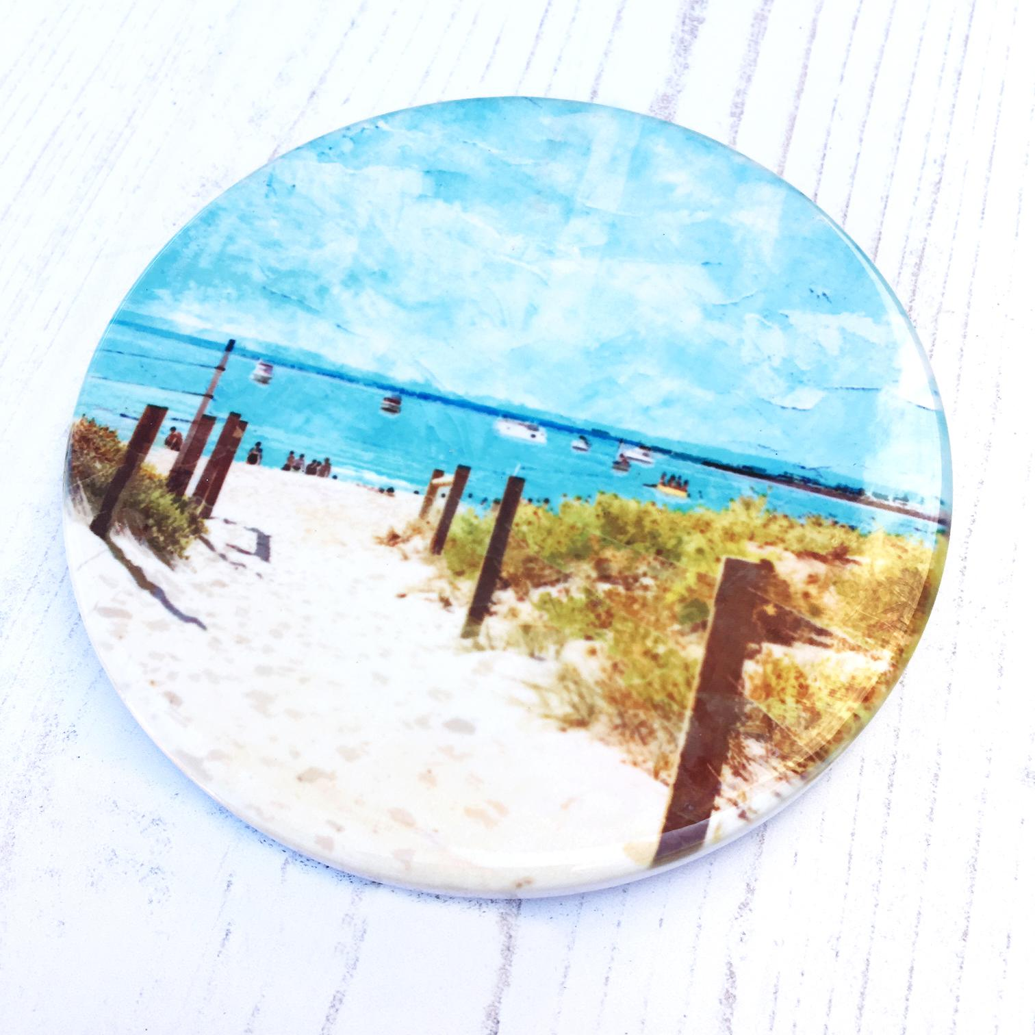 Summer Days at South Beach, Fremantle - Ceramic Coaster