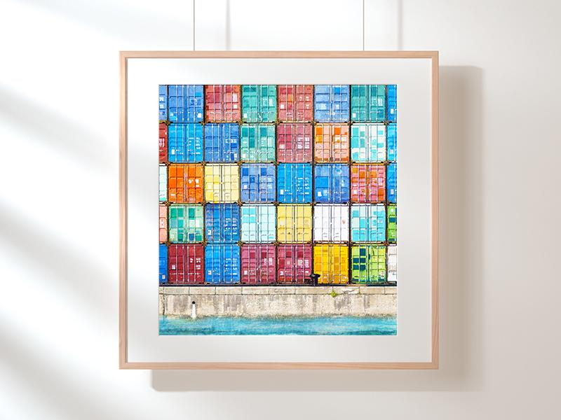 Fremantle Shipping Containers - Art Print