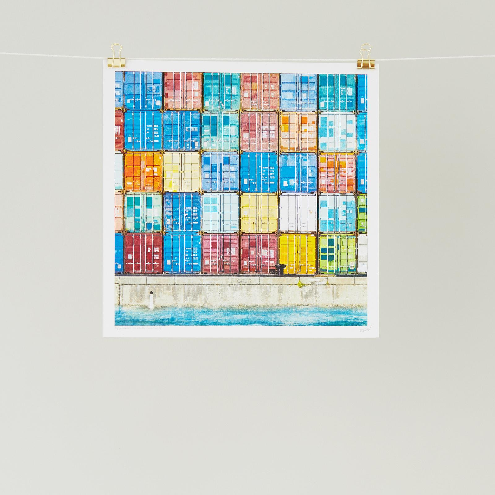 Fremantle Shipping Containers Art print