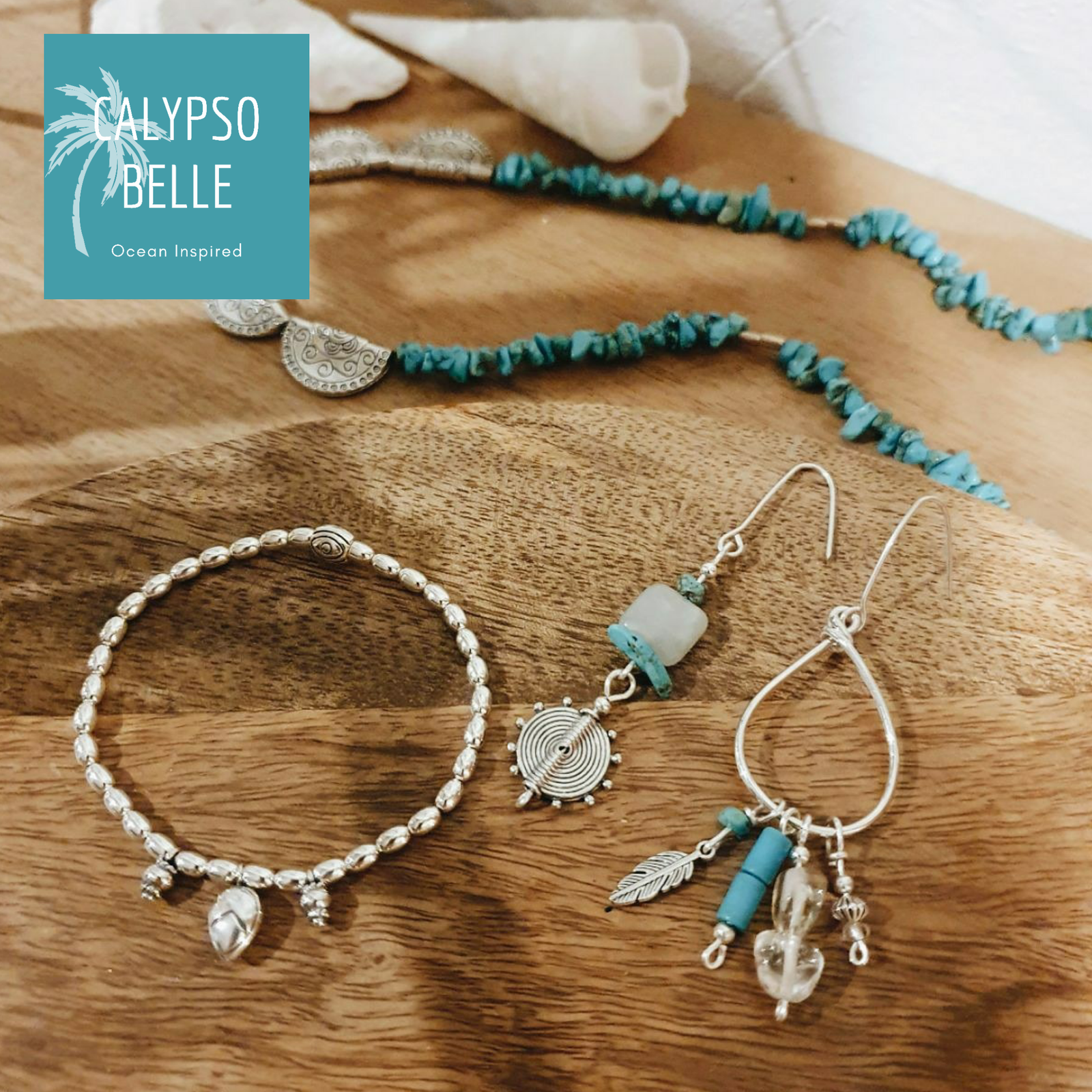 Turquoise stone and silver jewellery