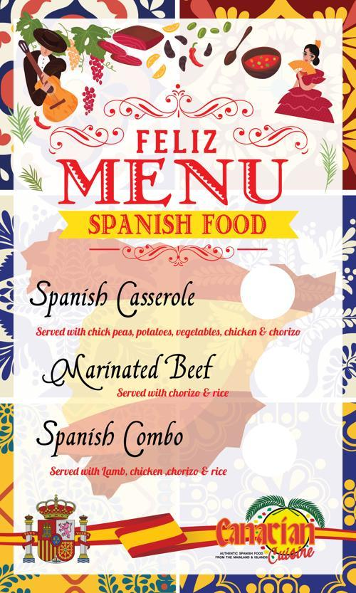 New menu canarian cuisine
