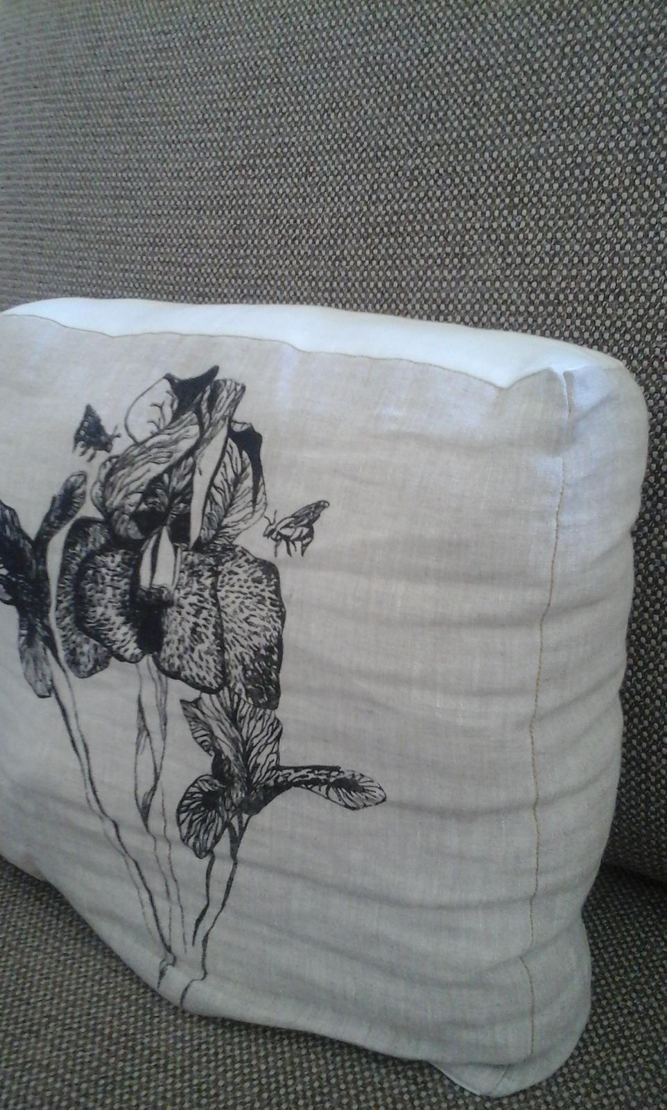 Iris and Bee Cushion
