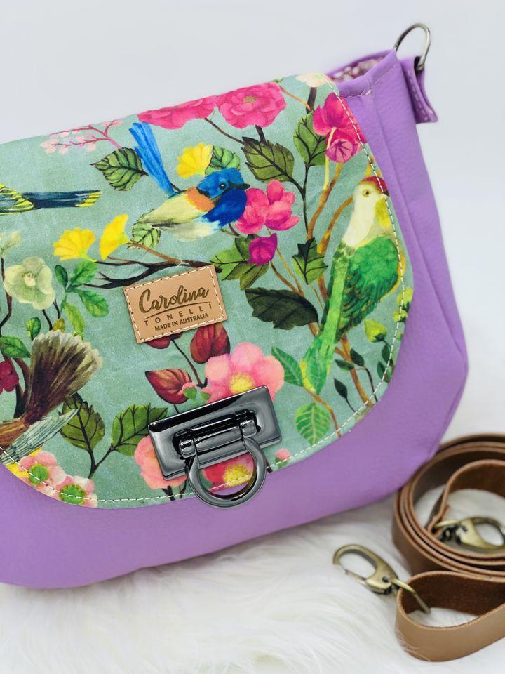 Australian Birds | Handbag | Crossbody | Microfiber Vegan Leather | Handmade