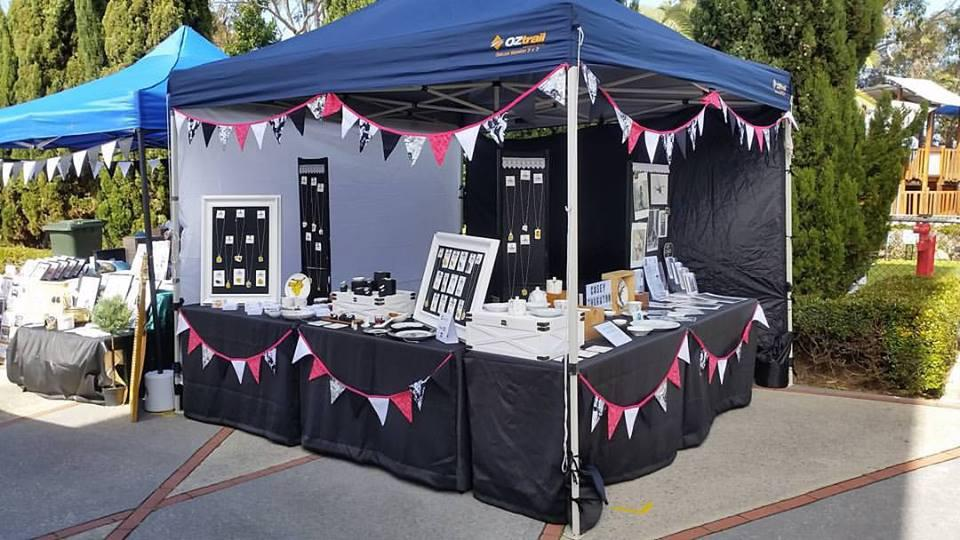 Stall setup October 2016 @ Perth Makers Market