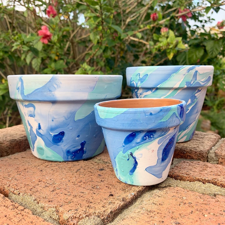 Marble Plant Pots | Planters | Colourful | Decor | Marble Planter | Plant Pot