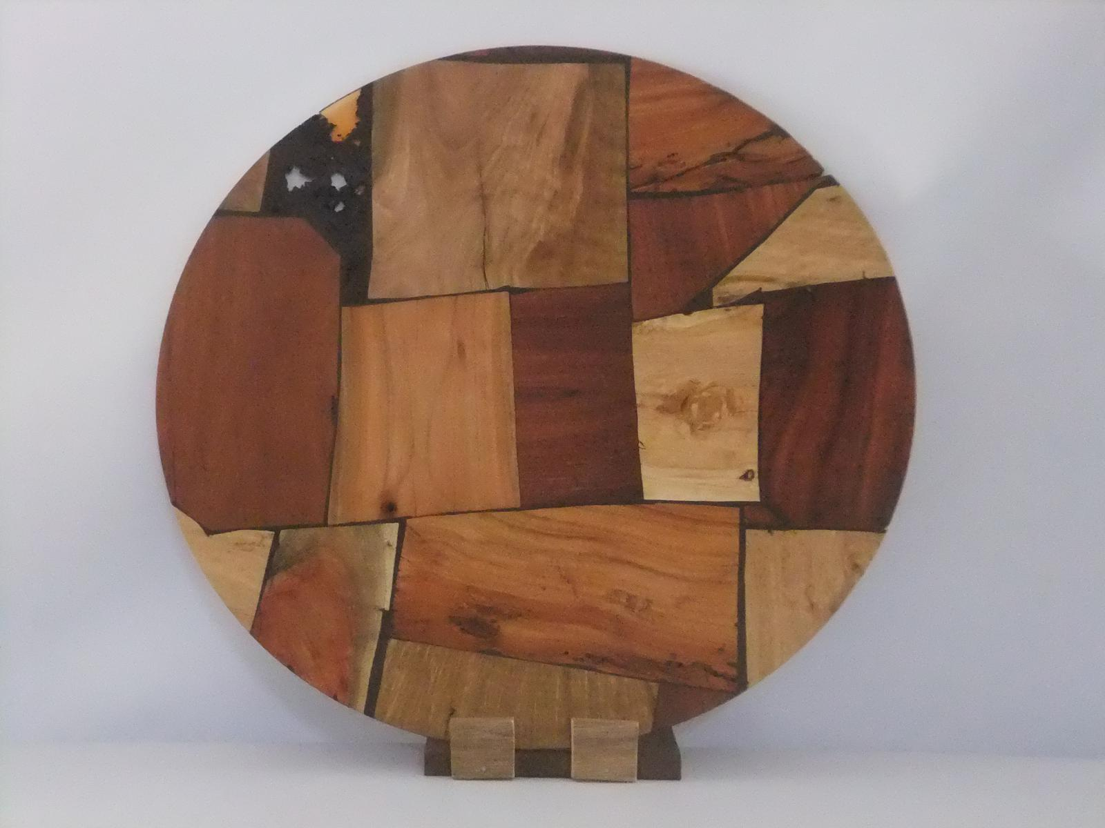 Multi-wood laminated platter