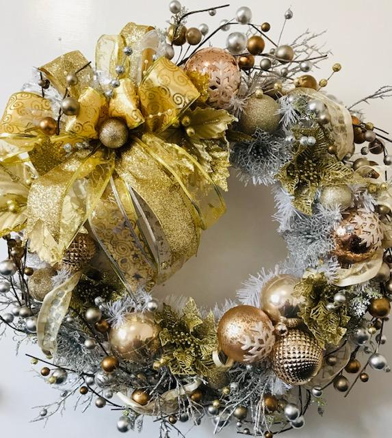 Mixed Metal Wreath