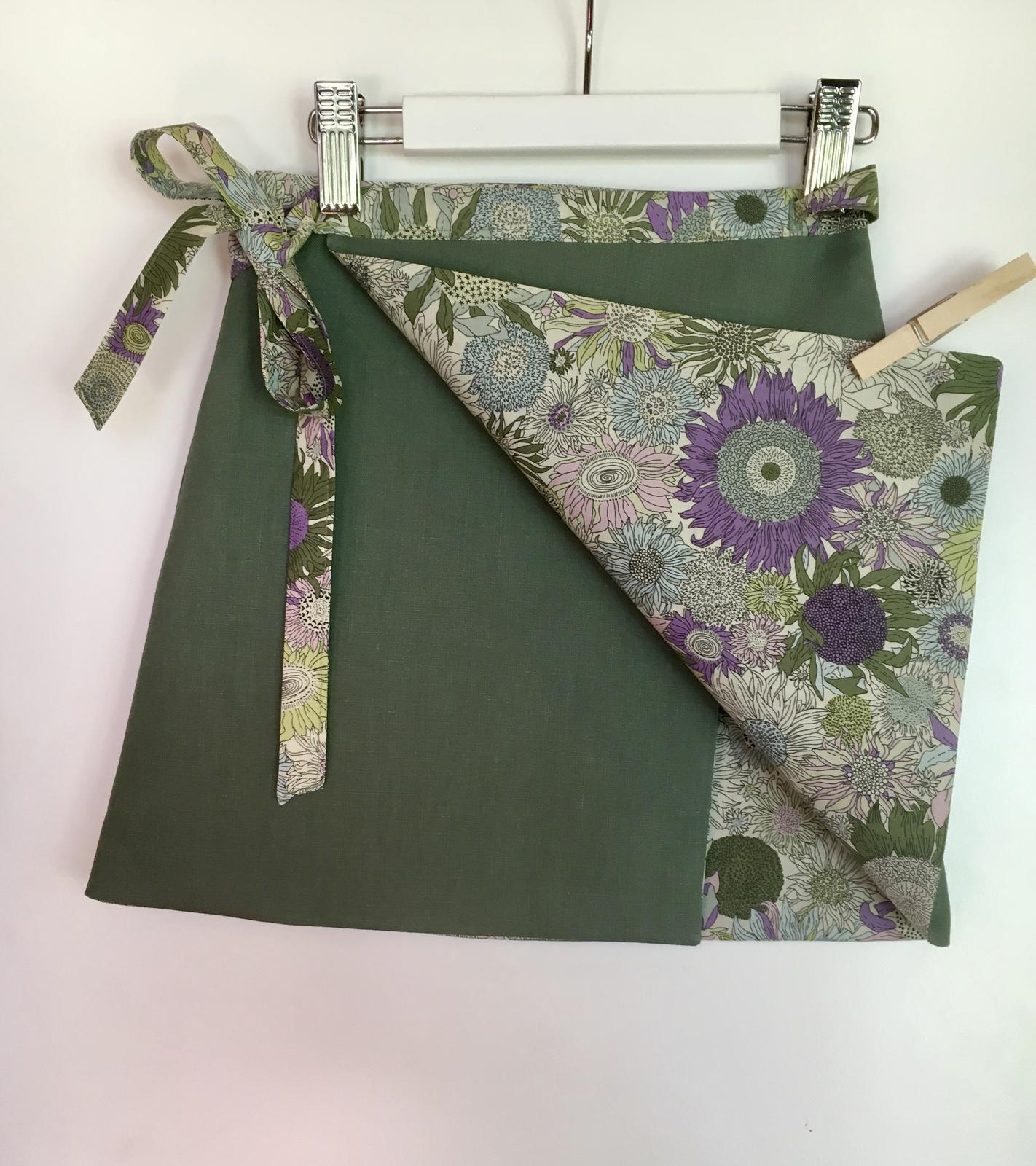 Linen and Liberty reversible skirt