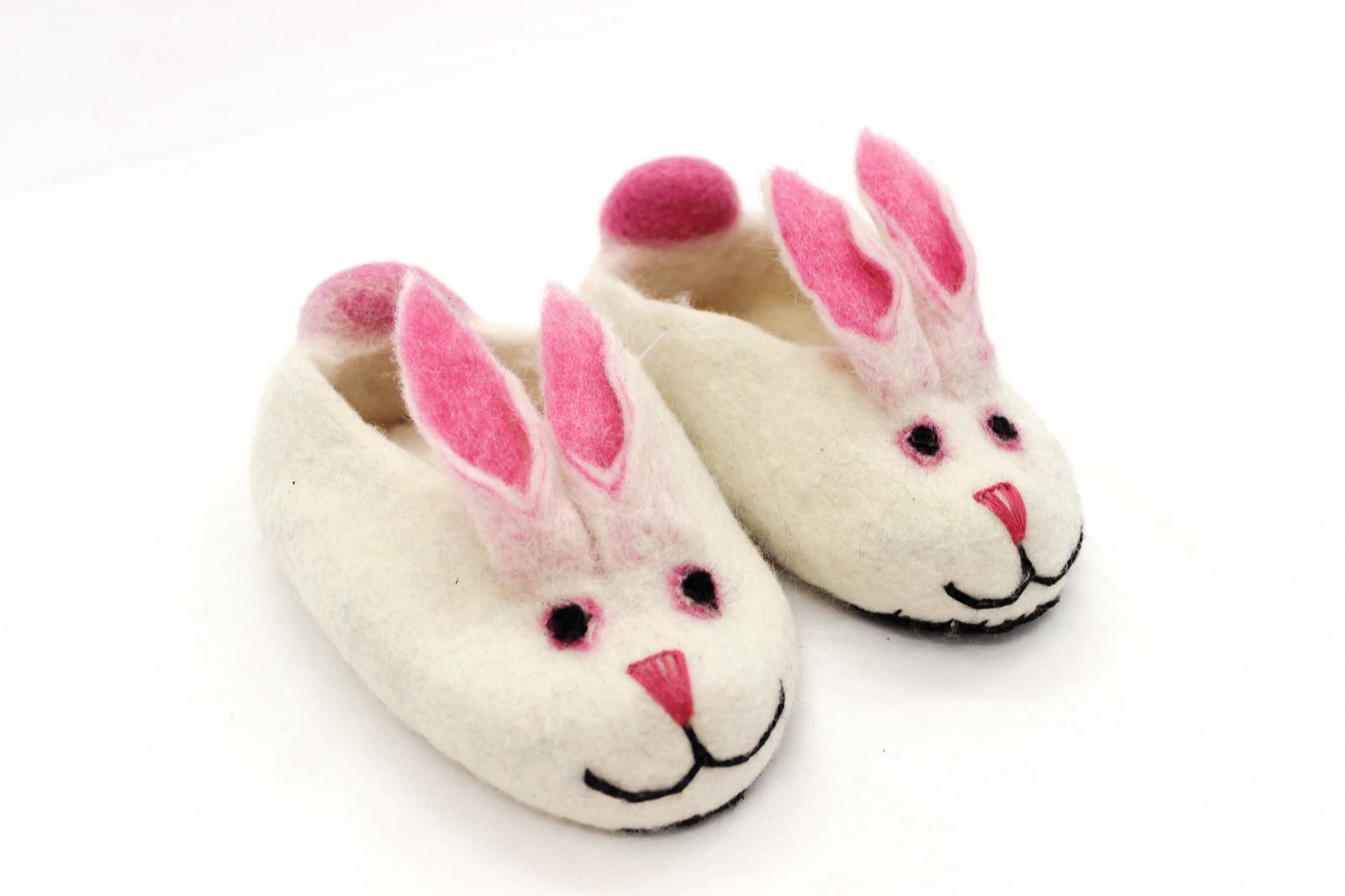 Felt bunny slippers